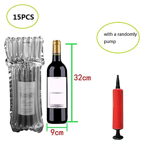 BestTas 15/35 * Buste Gonfiabili Buste Gonfiabili Design Speciale Sacchi a Cuscino per Vino Bottiglia di Vino e Oggetto Fragile (15 Pezzi)