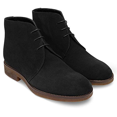 Masaltos Schuhe Herrenschuhe Die auf Unsichtbare Weise Ihre Körpergrösse bis zu 7 cm Erhöhen. Herrenschuhe mit Verstecktem Absatz. Modell Alexandro Schwarz 41