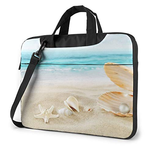 Beach Shell Sea Collection Laptop Bag Shockproof Briefcase for Men Women Tablet Carry Handbag for Trip Office 14 inch