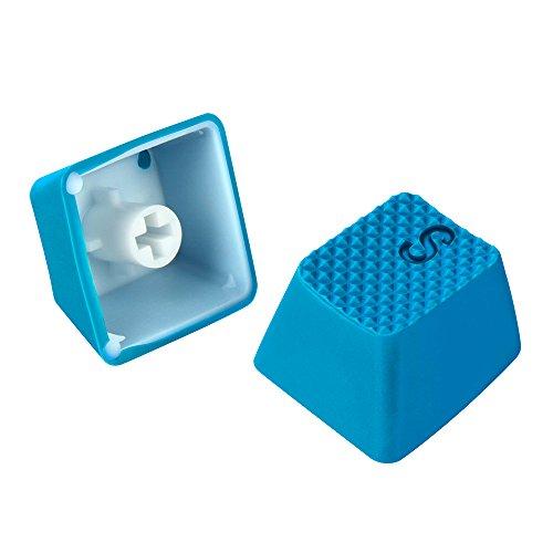 Sharkoon Mechanical Rubber Keyset hellblau Gummierte Tastenkappen für mechanische Tastaturen mit Kailh- und Cherry MX-Schaltern