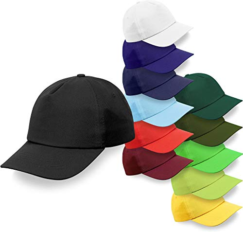 normani Baseball-Cap Baseball-Kappe mit Klettverschluss in vielen größenverstellbar [OneSize] Farbe Red