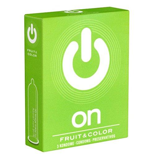On Fruit & Color aromatische Kondome für Genießer (Schoko, Erdbeere, Banane), 1 x 3 Stück