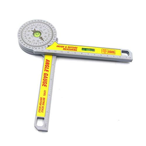 Halllo Portador de sierra ingletadora medidor de ángulo de escala métrica para medición interior y exterior de carpintería