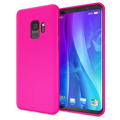 NALIA Handyhülle kompatibel mit Samsung Galaxy S9, Ultra-Slim TPU Silikon Neon Hülle, Dünnes Cover Gummi Schutzhülle Skin, Etui Handy-Tasche Backcover Smartphone Bumper, Farbe:Pink