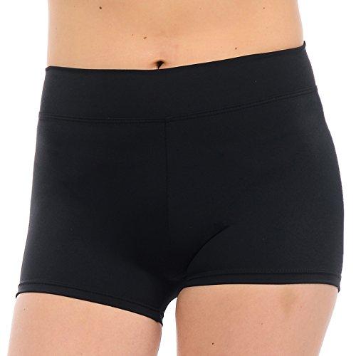 Anza Girls Active Wear Dance Booty Shorts-Black,Small(5/6)