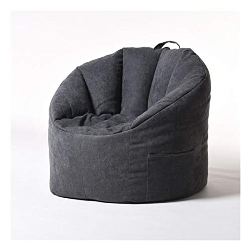 Bean Bag Cover Fauteuil Vullen Bag Lounger Sofa Ottomaanse Seat Living Room Furniture Zonder Filler zitzak Poef Puff Couch (Color : Black)