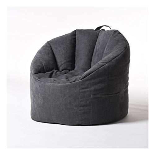 Bean Bag Cover Fauteuil Vullen Bag Lounger Sofa Ottomaanse Seat Living Room Furniture Zonder Filler zitzak Poef Puff Couch (Color : Black)