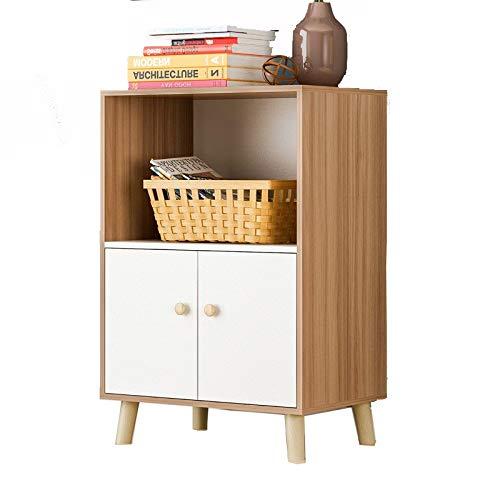 KCCCC Sideboard-Kabinett Storage Cabinet Bücherregal mit Türen, Badezimmerschrank, Sideboard Esszimmer (Color : Wood,...