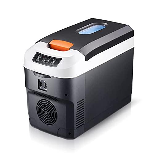 Mini Nevera 10L - Bebidas de cerveza Nevera pequeña portátil Refrigerador antivibración para dormitorio, cuidado de la piel, con función de enfriamiento y calentamiento