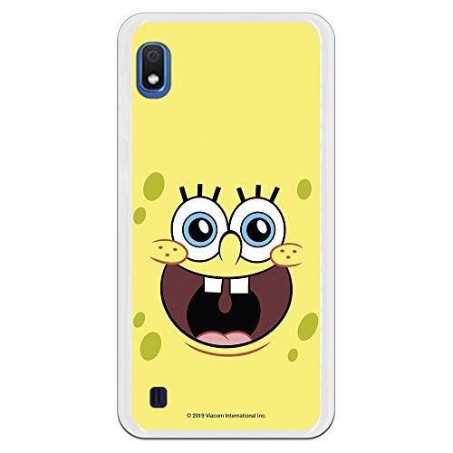 Funda para Samsung Galaxy A10 Oficial de Bob Esponja Bob Alegre para Proteger tu móvil. Carcasa para Samsung de Silicona Flexible con Licencia Oficial de Nickelodeon.