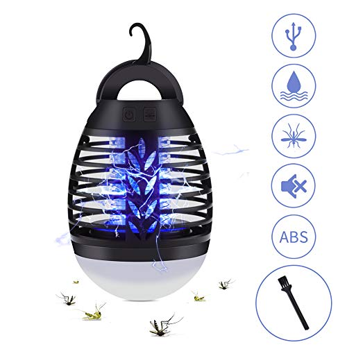 UOUNE Mosquito Killer Lamp-2 in 1 UV Bug Zapper Camping Lantern,Portable IP67 Waterproof,USB Rechargeable,Tent Light Insect Killer for Camping Hiking Fishing