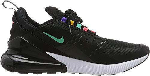Nike Herren AIR MAX 270 Gymnastikschuhe, Schwarz (Black/Flash Crimson/Univ Gold/Psychic Purple/Kinetic Green/White 023), 44 1/2 EU