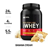 Optimum Nutrition Gold Standard 100% Whey Protein Powder, Banana...