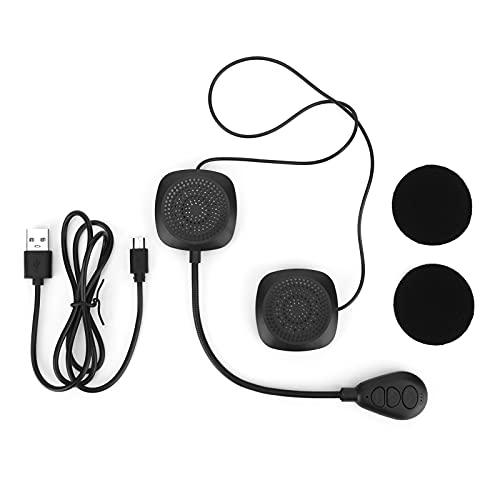 Estink Motorradhelm Bluetooth-Headset, Kabelloser Lautsprecher Freisprech-Headset Am Kopf, Eingebauter 180-mAh-Lithium-Ionen-Akku, Automatische Rufannahme