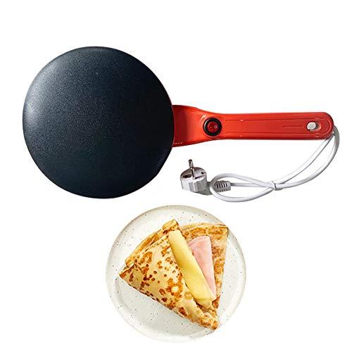 Sandwichmaker elektrische crêpepmachine voor het ontbijt YXY-Tech pannenkoeken, antiaanbaklaag, antiverbrandingsgreep, gebakken pannen met levensmiddelenkwaliteit, PP-materiaal Chinese lenterol rood