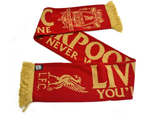 FC Liverpool Scarf Fanschal Schal (one size, YNWA Gold)