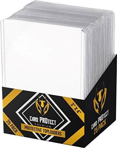 25 fundas protectoras para tarjetas de Yugioh | Pokemon | Magic the Gathering - Premium Ultra Pro calidad y transparente | Cajas de refuerzo