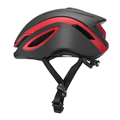 ROCKBROS Casco Integral para Ciclismo Protección Anti-Golpes Airsoft Tamaño 55-61cm para Bicicletas MTB Bici de Carretera para Hombre y Mujer (L(58-61cm), Negro Rojo)