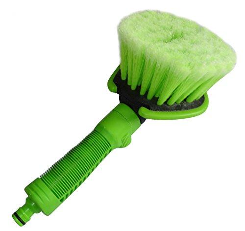 Aerzetix - Spugna , spazzola di lavaggio auto con connessione raccordo rapido per tubo .