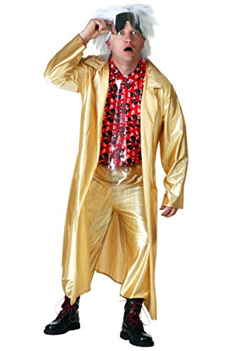 Back to The The Future 2015 Doc Brown Fancy Dress Costume Small
