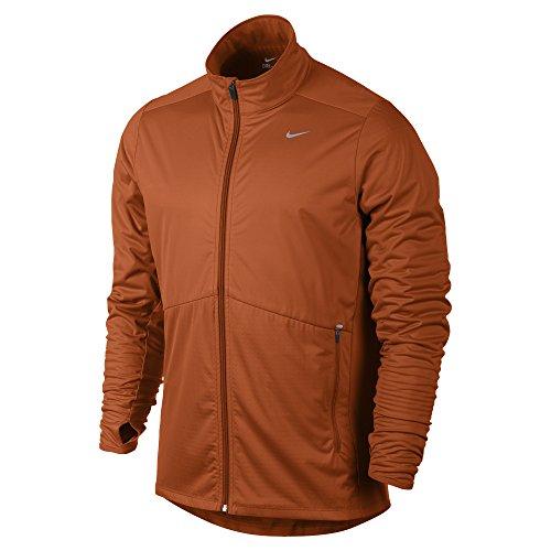 Nike Jacke Element Shield Full Zip, Giacca Uomo, Urban Arancione/Argento, XL