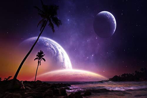LIZELUO Escritorio para Laptop Cocotero Planetario Se Puede Usar para Desayunar Leer Mirar Películas En La Cama/Sofá 60x40cm