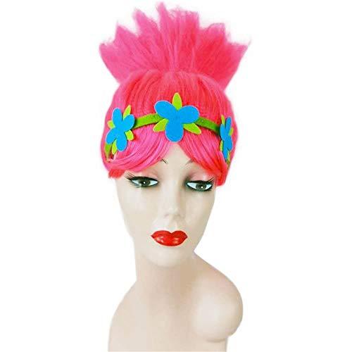 Bobby Elf Princess Magic Hair Cosplay Pruiken Devil Flame Giant Trolls Head Wig themafeest Wig