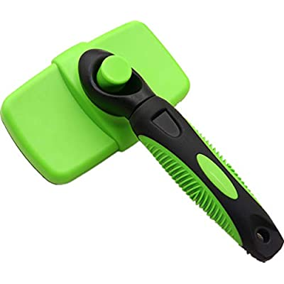 ASTUAFIA Self Cleaning Slicker Brush – Gently Removes Loose Undercoat, Mats and Tangled Hair – Your Dog or Cat Will Love Being Brushed with The Grooming Brush