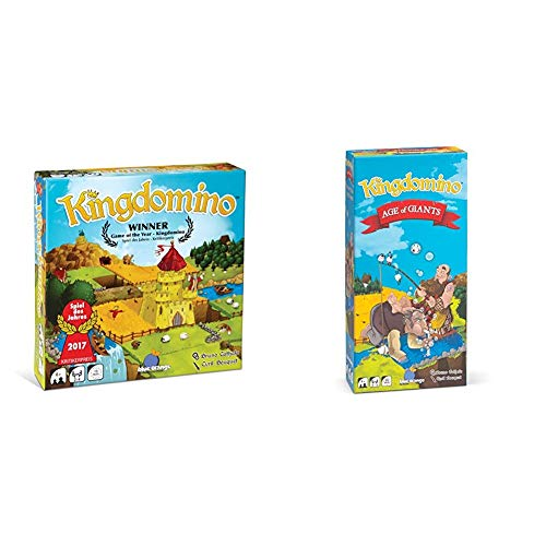 Blue Orange Games Kingdomino Family Strategy Board Game & Kingdomino Age of Giants Expansion Strategy Board Game