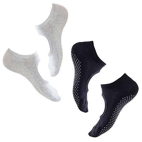 allgemein 2 Pares Calcetines Pilates Yoga Puro AlgodóN Calcetines Antideslizantes De Suela Adherente Ballet Aptitud Artes Marciales Gimnasia