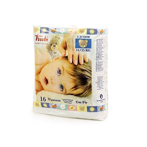 Trudi Baby Care Pannolini Dry Fit Junior 11-25 Kg, Bianco, 30 Grammi