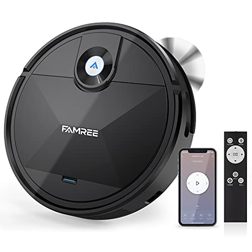 Famree MT-200 Robot Vacuum Cleaner, 1800Pa Strong Suction WiFi/App Self-Charging Robotic Vacuums...