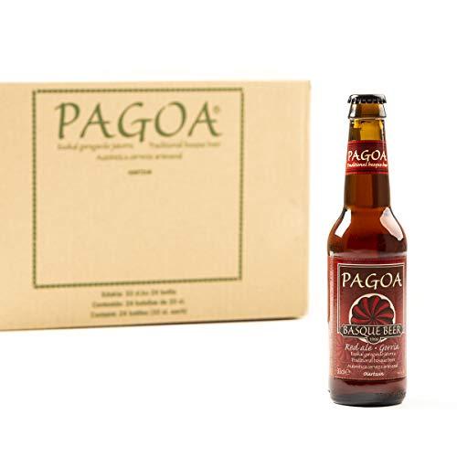 Pagoa - Cerveza Artesana- Pack de 12 Botellas x 33 cl – Red Ale Tostada de Alta Fermentación - Pioneros de la Cerveza Artesanal desde 1998 - Formato Ideal para Consumir en Casa