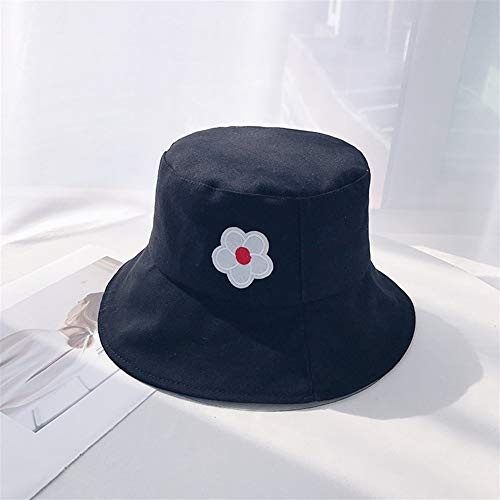 ZHOUYUFAN Japanse minimalistische bloempotten hoed zonnehoed wind HyunA HyunA literaire mooie zachte zus zomer zonnehoed Eén maat Zwart