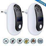 ValueTalks Repellente Topi Ultrasuoni Repellente Contro Parassiti Repellente Elettronico per Zanzare, Ragni, Ratti, Scarafaggi e Formiche(2 Pack)