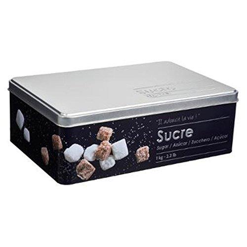 """FIVE Simply Smart - Boîte à Sucre en Morceaux""""Relief II"""" 20cm Noir"""