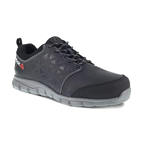REEBOK WORK IB1036S3 Excel Light Herren Aluminium Toe Wasserdicht Athletic Safety Sneakers 40 Schwarz
