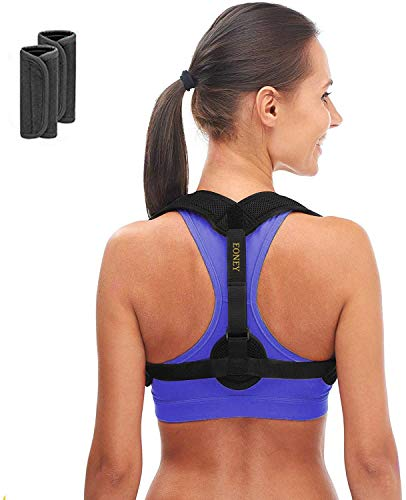 Eoney Posture Corrector for Women & Men Under Clothes Effective and Adjustable Shoulder Belt for...