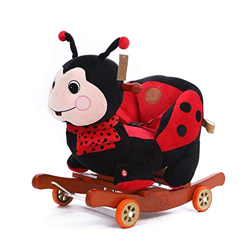 YUEZPKF Schön Schaukelstuhl Kind Rocking Pferd Plüsch, ausgestopfte Tier Rocker Spielzeug, Käfer Rocker mit Rädern, Kleinkind Rocker/Baby ROC