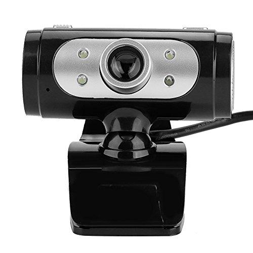 HD PC webcam, USB computer webcam Videocamera, 12,0 M pixels, links en rechts 360 graden en omhoog en omlaag 60 graden draaibaar, handmatig instelbare brandpuntsafstand, ingebouwde microfoon, flexibel