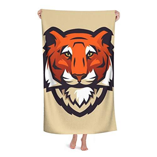 Toallas de playa extra grandes de microfibra para hombres y mujeres, logotipo de tigre para natación, spa, viajes, yoga, deportes