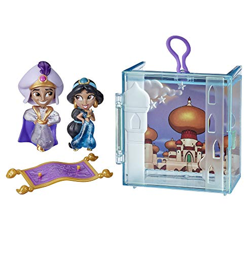 Disney Princess Perfect Pairs Jasmine, Fun Aladdin Unboxing Toy with 2 Dolls, Portable Display Case and Stand, for Kids 3 Years and Up