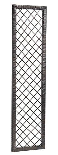 GARTENFREUDE Spalier Polyrattan 36 x 2,5 x 140 cm für Blumenkübel, bicolour braun