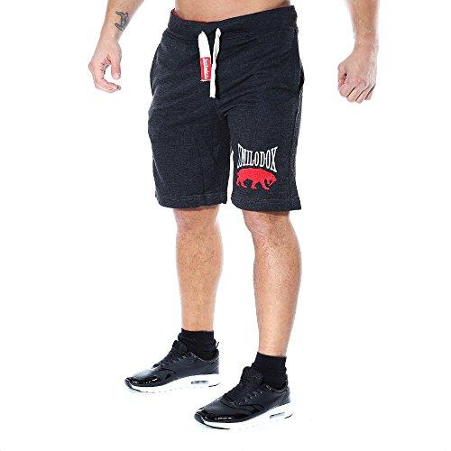 SMILODOX Herren Shorts 'Classic' | Kurze Hosen für Sport Fitness Gym Training & Freizeit | Jogginghose - Freizeithose - Trainingshose - Sweatpants - Sporthose Kurz, Farbe:Anthrazit, Größe:S