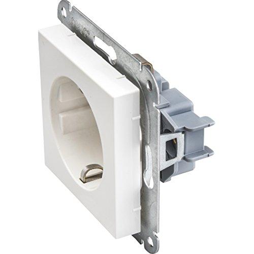 10 Stück OPUS 55 System 55 Schutzkontakt Schuko Steckdose unterputz mit Steckklemmen polarweiss