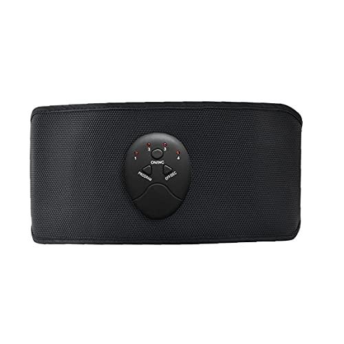Cinturón abdominal eléctrico Masaje abdominal inteligente Adelgazamiento de cinturón de masaje Dispositivo de fitness Medidor de pérdida de peso corporal para espalda baja