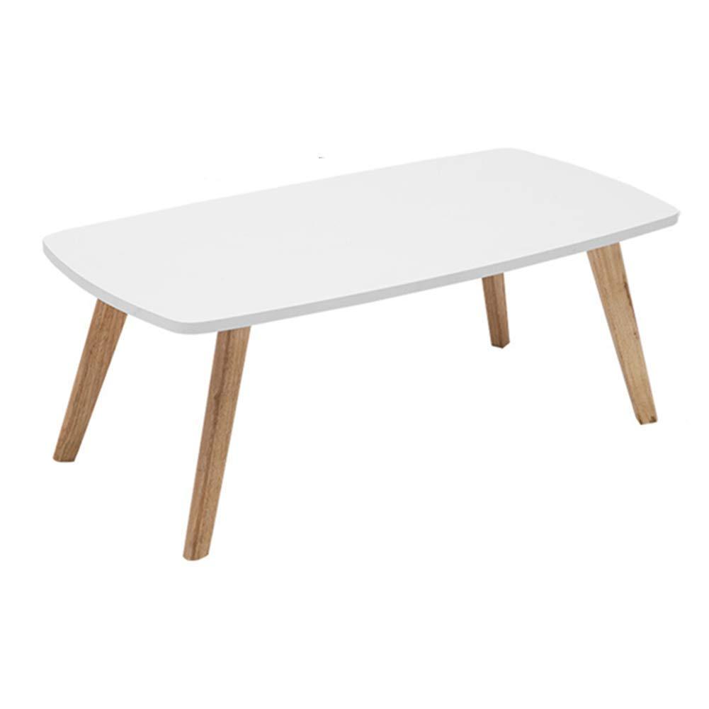 コーヒーテーブル 小型のコーヒーテーブルシンプルでモダンなティーテーブルベッドサイドテーブル長方形ソファサイド - ホワイト、100x50x45cm (Size : 120x55x45cm)