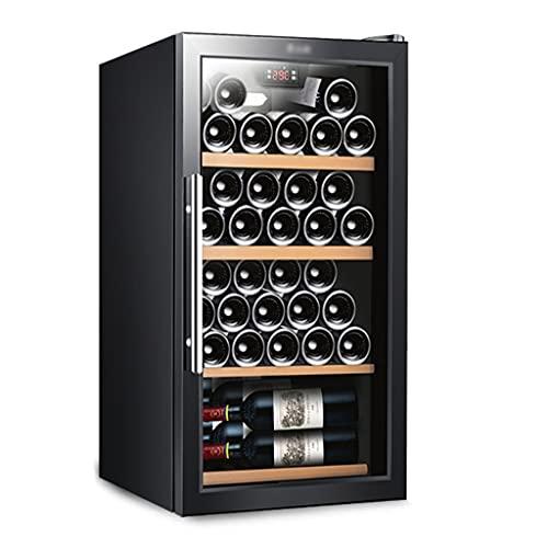 HYXSHOP Enfriador De Vino De Oficina Vinoteca Profesional con Capacidad para 35 Refrigerador para Almacenamiento De Vino Ahorro De Energía Y Silencioso (Color : Black, Size : 48 * 52.5 * 83cm)