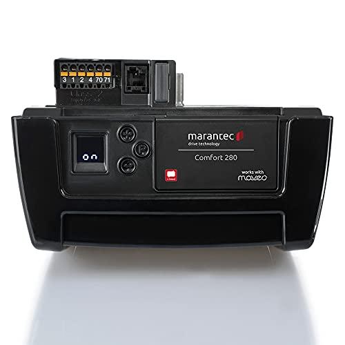 Marantec Comfort 280 Garagentorantrieb, Set inkl. 1 Handsender, elektrischer Torantrieb für Garagentore, Sektionaltore und Schwingtore, Schwarz