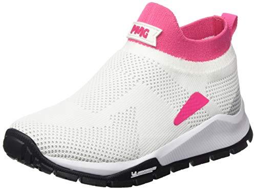 PRIMIGI Mädchen Scarpa Bambina SUOLA Michelin Hohe Sneaker, Weiß (Bianco-Fuxia 5440900), 31 EU